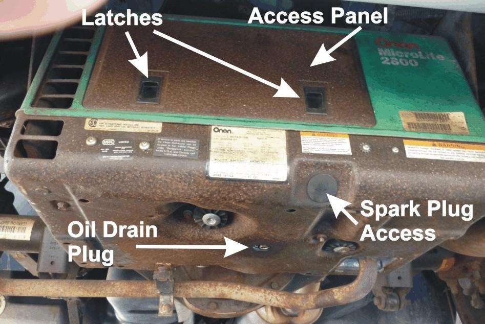 Checking the Oil in your RV's Onan Generator
