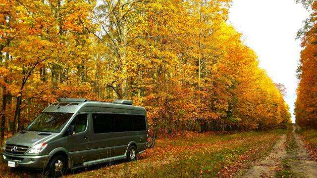 RV Boondocking and elk watching in the Pigeon River State Forest