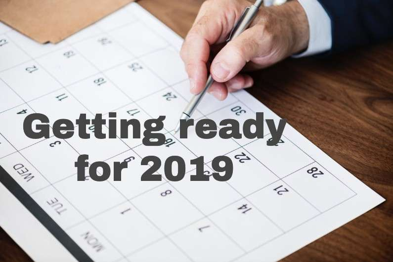 Getting ready for 2019