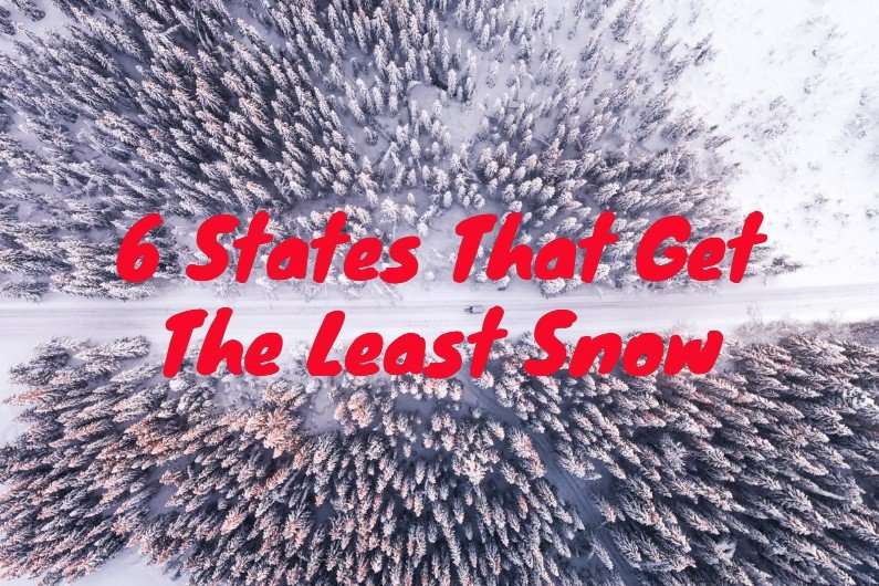 photo illustrating states with the least snow